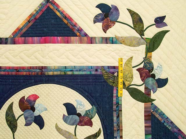 Navy and Multicolor Rainbow Reflections Throw Photo 3