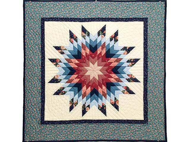 Blue Radiant Star Wall Hanging Photo 1