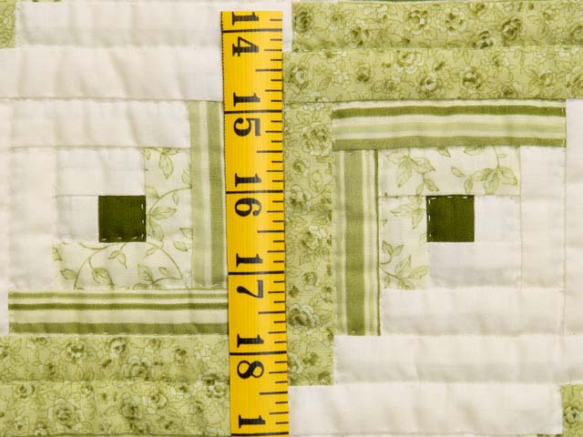 Pistachio Green and Cream Log Cabin Crib Quilt Photo 4