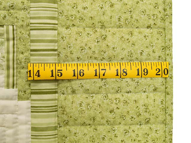 Pistachio Green and Cream Log Cabin Crib Quilt Photo 6
