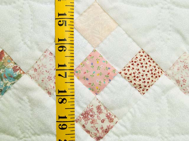 Pink and Cream Nine Patch Crib Quilt Photo 4