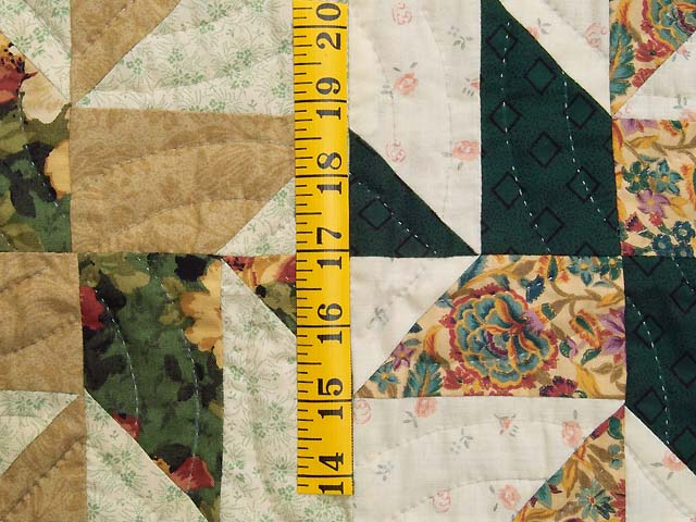 Green and Burgundy Rolling Pinwheel Wall Hanging Photo 4