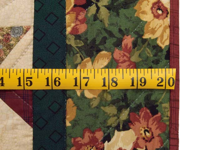 Green and Burgundy Rolling Pinwheel Wall Hanging Photo 6