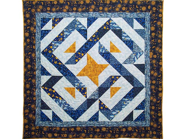 Blue Navy and Gold Celestial Throw Photo 1