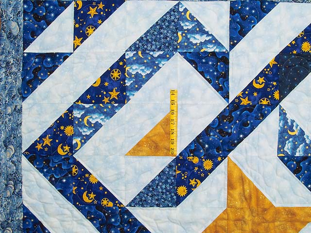 Blue Navy and Gold Celestial Throw Photo 3