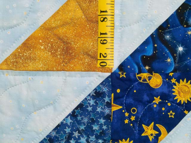 Blue Navy and Gold Celestial Throw Photo 4