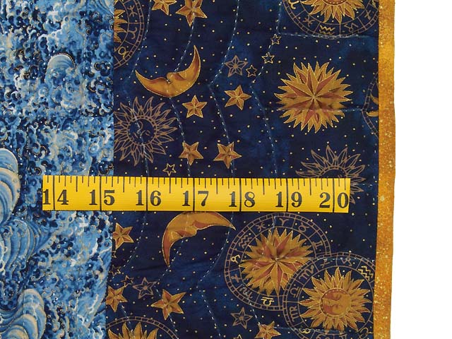 Blue Navy and Gold Celestial Throw Photo 5