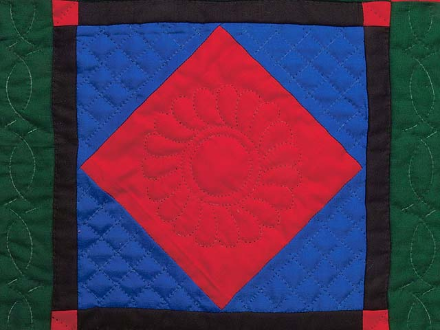 Miniature Amish Center Diamond Quilt Photo 2