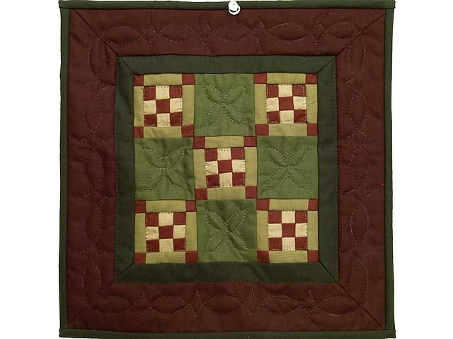 Miniature Nine Patch Quilt Photo 1