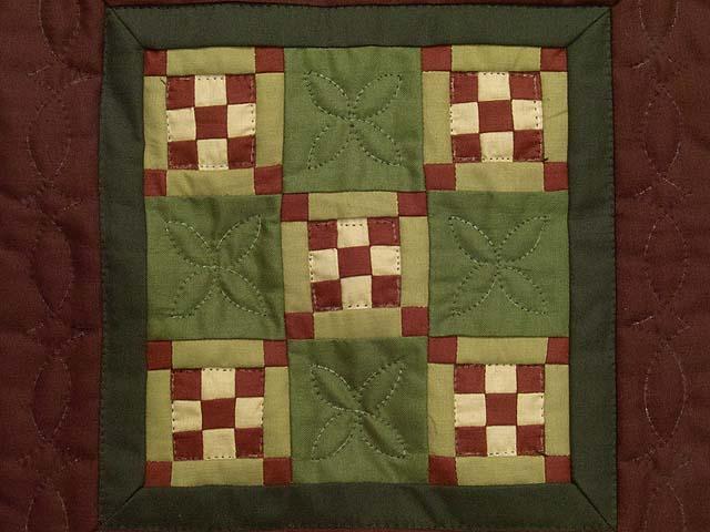 Miniature Nine Patch Quilt Photo 2