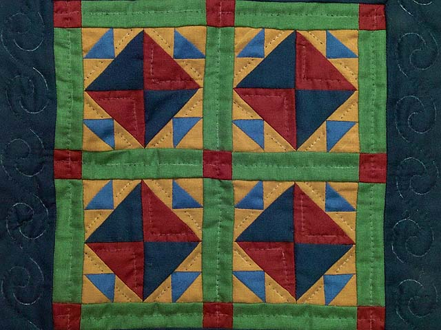 Amish Corn and Beans Miniature Quilt Photo 2