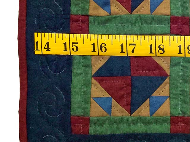 Amish Corn and Beans Miniature Quilt Photo 3