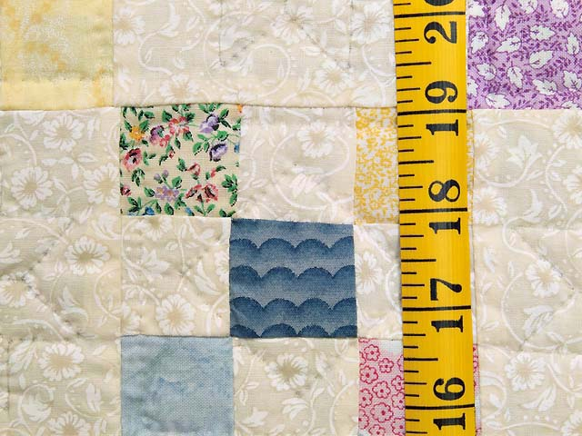 Blue and Multicolor Nine Patch Crib Quilt Photo 4