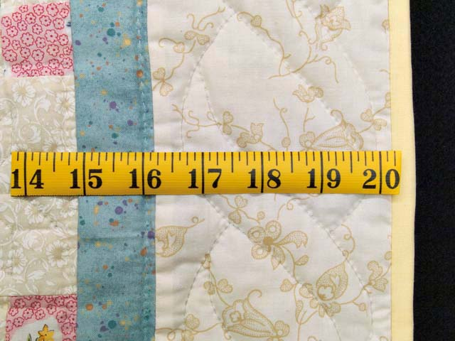 Blue and Multicolor Nine Patch Crib Quilt Photo 5