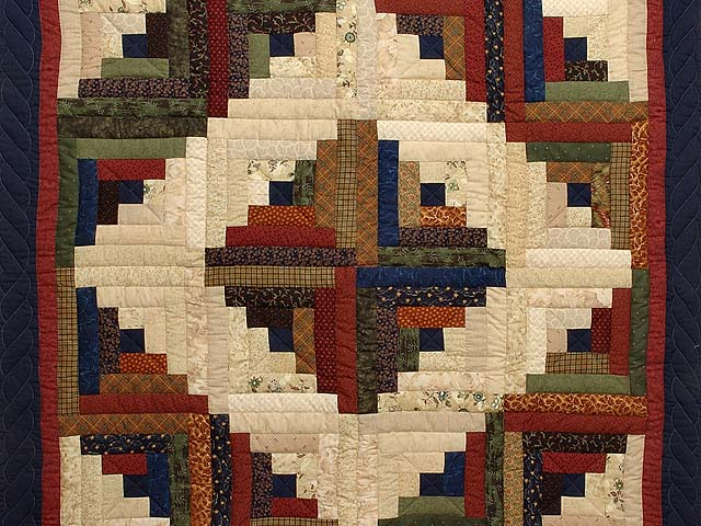 Country Colors Log Cabin Throw Photo 2