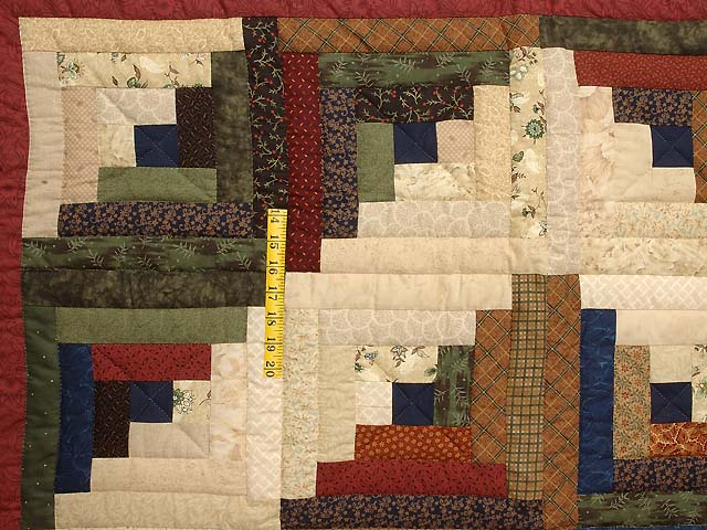 Country Colors Log Cabin Throw Photo 3