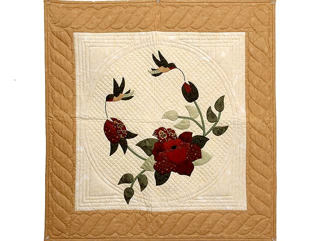 Carmel and Tan Rose Garden Wall Hanging Photo 1