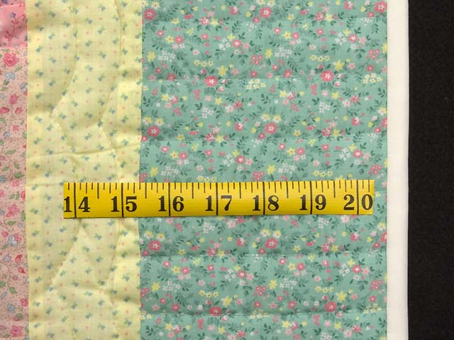 Pastel Green Yellow and Multi Log Cabin Crib Quilt Photo 5