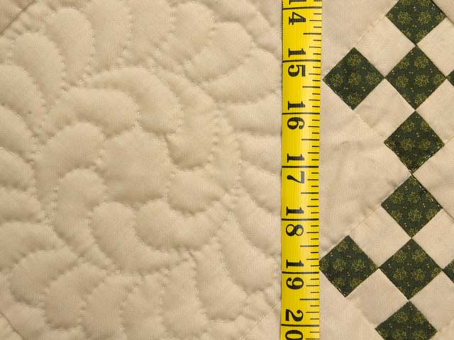 Dark Green and Tan Nine Patch Throw Photo 5