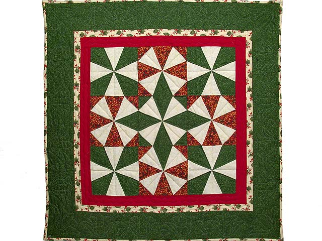 Christmas Colors Kaleidoscope Wall Hanging Photo 1