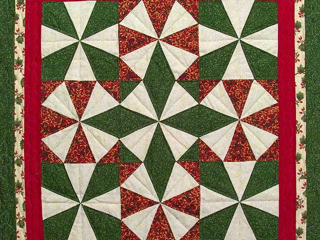 Christmas Colors Kaleidoscope Wall Hanging Photo 2