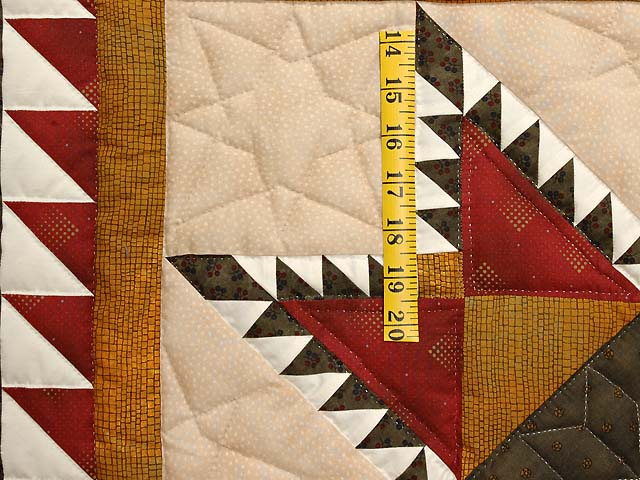 Moss Burgundy and Gold Feathered Star Wall Hanging Photo 3