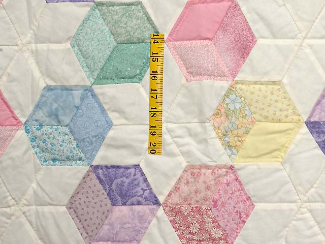Purple and Pastels Tumbling Blocks Crib Quilt Photo 3