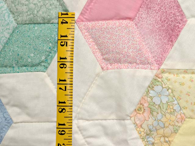 Purple and Pastels Tumbling Blocks Crib Quilt Photo 4