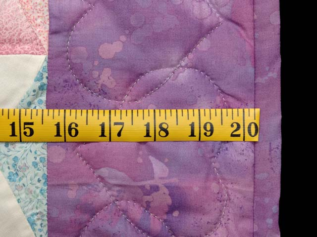Purple and Pastels Tumbling Blocks Crib Quilt Photo 5