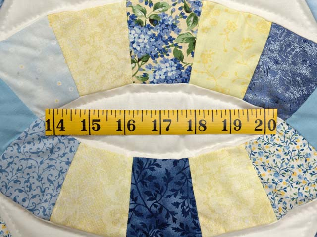 Blue and Yellow Double Wedding Ring Wall Hanging Photo 4