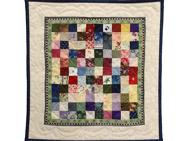 Miniature Postage Stamp Quilt Photo 1