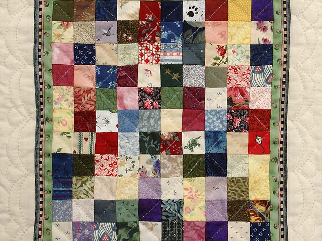 Miniature Postage Stamp Quilt Photo 2