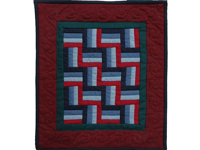 Amish Weaver Miniature Quilt Photo 1