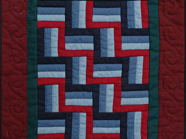 Amish Weaver Miniature Quilt Photo 2