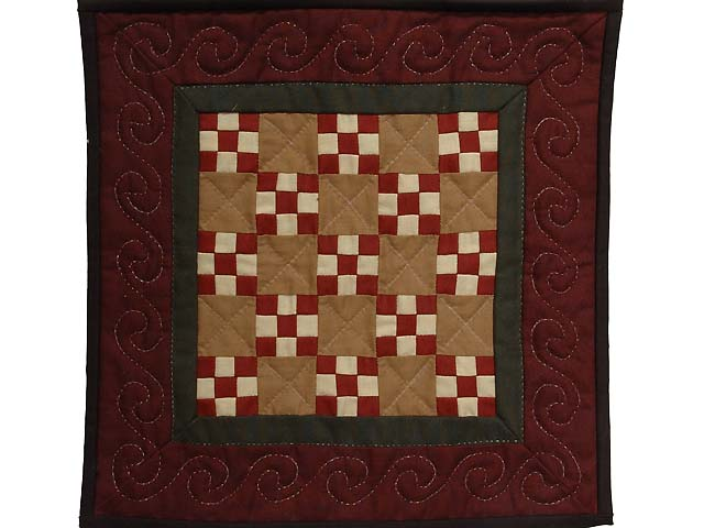 Miniature Nine Patch Quilt Photo 1