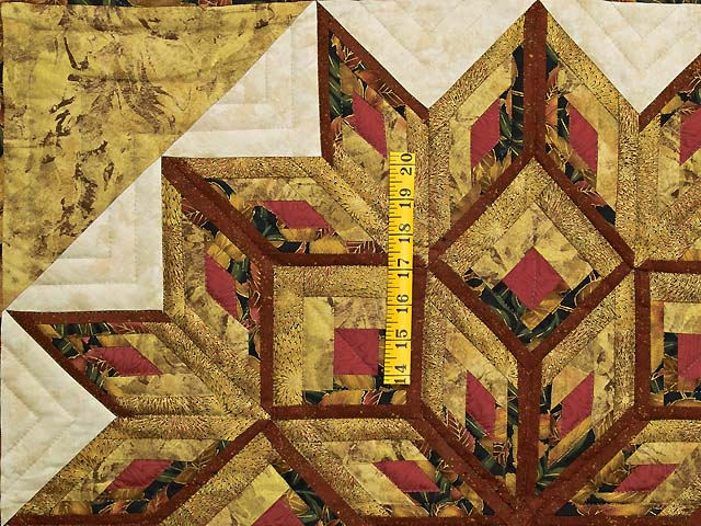 Red and Gold Broken Diamond Star Throw Photo 3