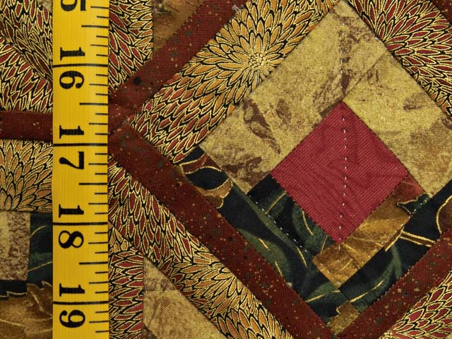 Red and Gold Broken Diamond Star Throw Photo 4