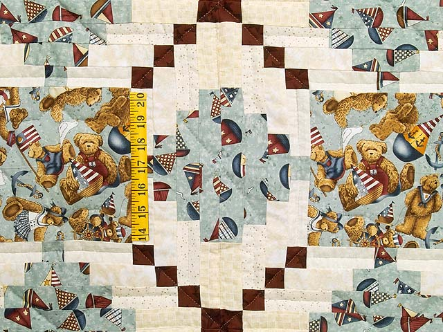 Teddy Bear Log Cabin Crib Quilt Photo 3