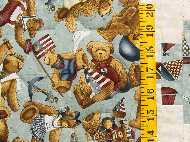 Teddy Bear Log Cabin Crib Quilt Photo 4