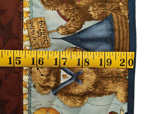 Teddy Bear Log Cabin Crib Quilt Photo 6