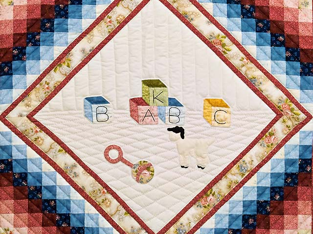 Rose ABC Crib Quilt Photo 2