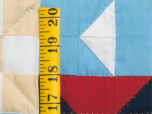 Blue Red and Tan Sailboat Nine Patch Crib Quilt Photo 4