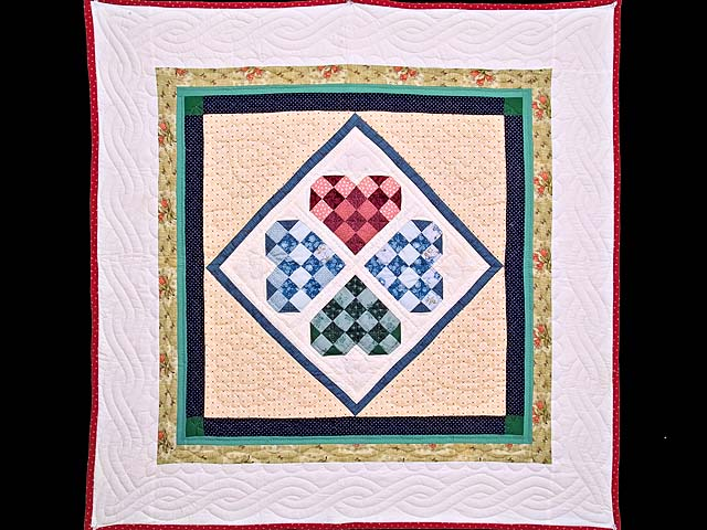 Patchwork Heart Diamond Wall Hanging Photo 1