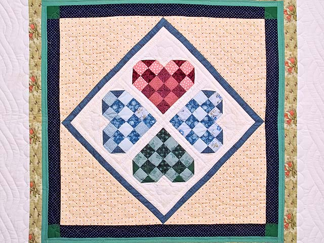 Patchwork Heart Diamond Wall Hanging Photo 2