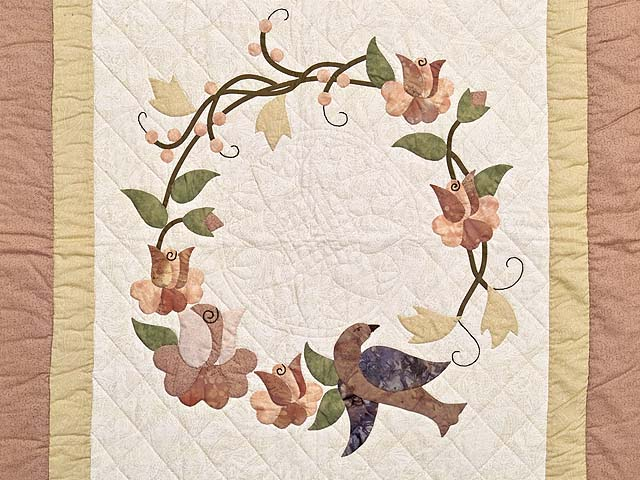 Mauve Vines and Roses Wall Hanging Photo 2