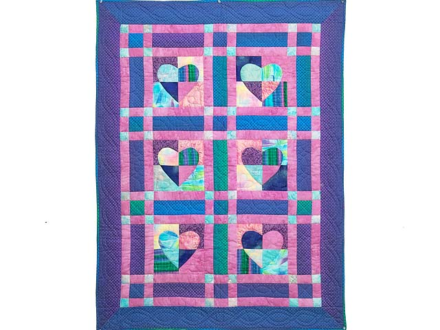 Multicolor Mended Heart Wall Hanging Photo 1