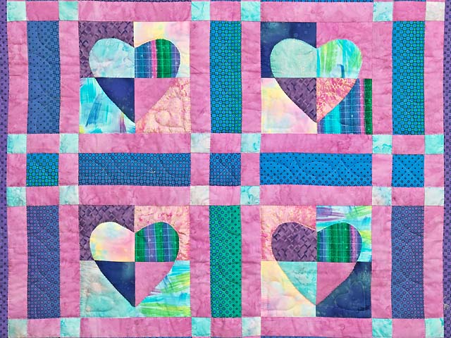 Multicolor Mended Heart Wall Hanging Photo 2