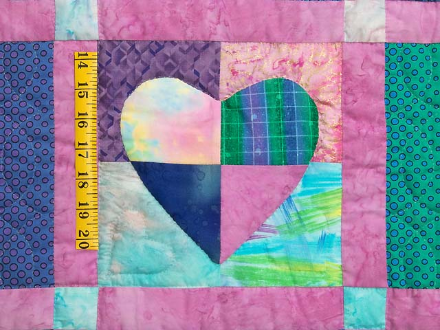 Multicolor Mended Heart Wall Hanging Photo 3