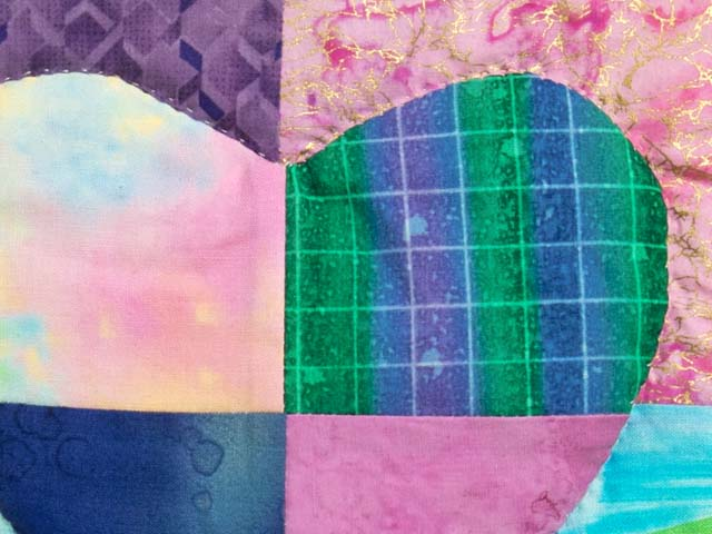 Multicolor Mended Heart Wall Hanging Photo 4
