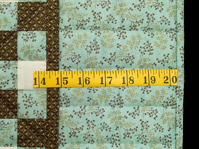 Blue Brown and Cream Irish Chain Crib Quilt Photo 6